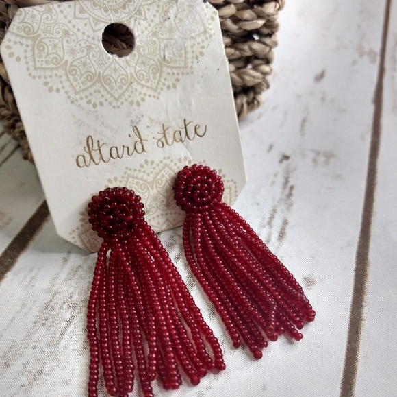 Altar'd State Jewelry - New Altar'd States seated bead tassel earrings
